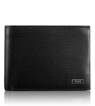 Tumi Black Monaco Global Wallet With Coin Pocket