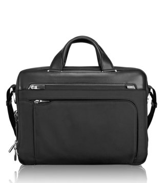 Tumi Black Arrive Business Sawyer Laptop Brief
