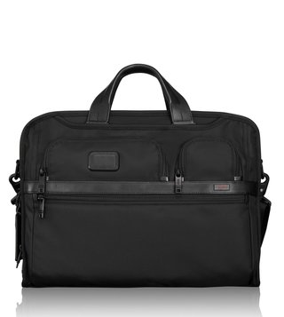 Tumi Black Alpha Compact Large Screen Laptop Brief