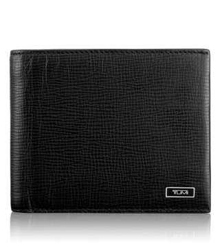 Tumi Black Monaco Global Double Billfold