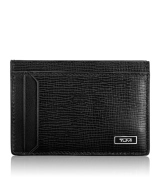 Tumi Black Monaco Money Clip Card Case