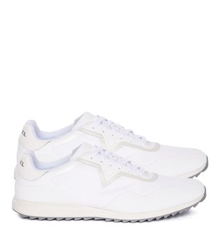 Diesel White V-Staffetta S-Swifter Sneakers