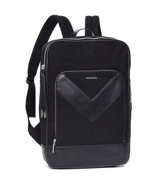 Diesel Black MR V Zipper V-Back Backpack