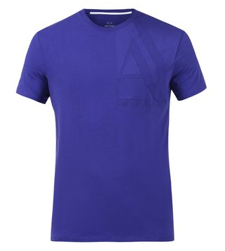 Armani Exchange Spectrum Blue Shoulder Logo Print T-Shirts