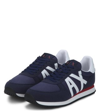 Armani Exchange Navy Peony Retro Logo Sneakers