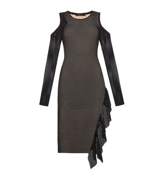 BCBG Maxazria Black Below Knee Zola Dress