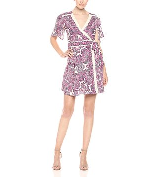 BCBG Maxazria Pink Kylie Woven City Dress