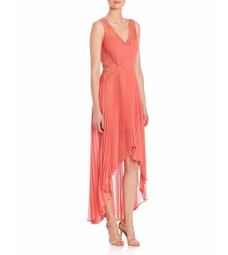 BCBG Maxazria Coral Angelea Woven Evening Dress
