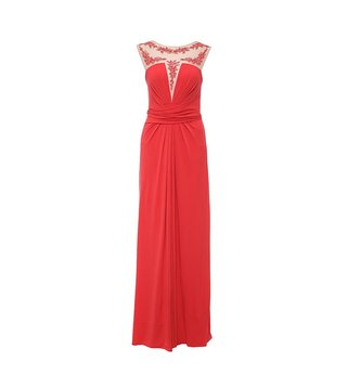 BCBG Maxazria Red Eris Knit Evening Dress