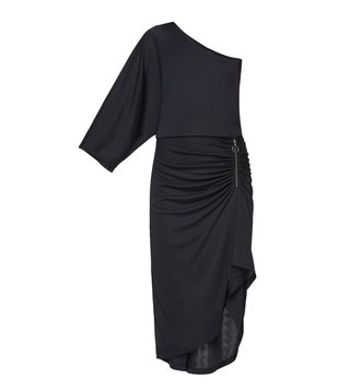 BCBG Maxazria Black Below Knee Malena Dress
