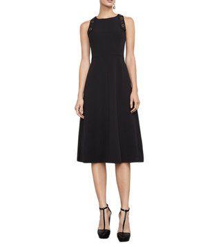 BCBG Maxazria Black Chloey Woven City Dress