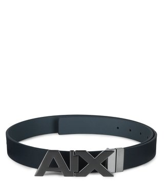 Armani Exchange Navy Reversible Logo Waist Belt