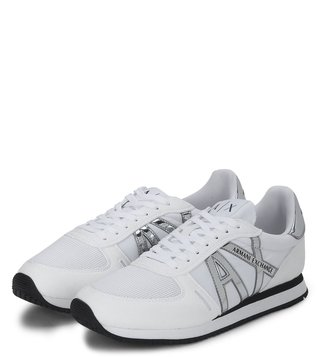 Armani Exchange Bianco Retro Logo Sneakers