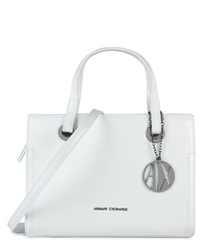Armani Exchange Bianco Medium Reversible Satchel