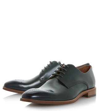 Dune London Green Placebo Brogues Shoes