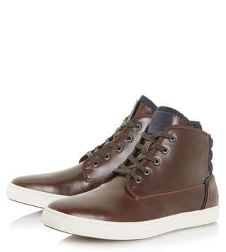 Dune London Brown Spacejam Sneakers