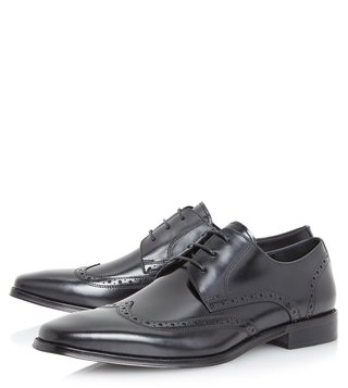 Dune London Black Pembrook Brogue Shoes