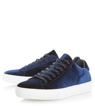 Dune London Navy Travis Sneakers