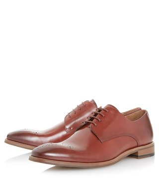 Dune London Red Placebo Brogues Shoes