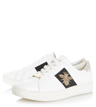 Dune London White Ebie Sneakers
