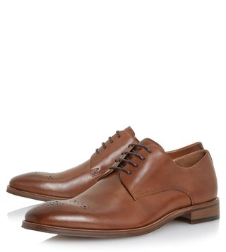 Dune London Tan Placebo Brogues Shoes