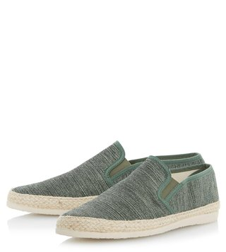 Dune London Green Finnick Espadrille Shoes