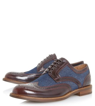 Dune London Bordo Pilgrim Brogue Shoes