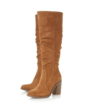 Dune London Tan Tamika Boots