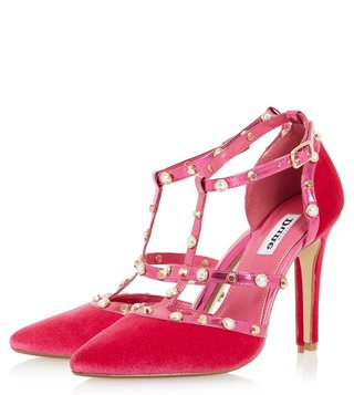 Dune London Pink Daenerys Pumps