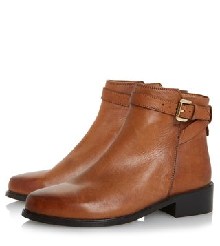 Dune London Tan Poppy Boots