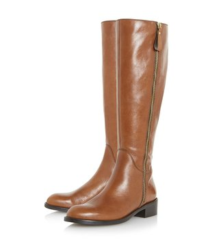 Dune London Tan Tillyy Boots