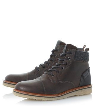 Dune London Grey Cannister Derby Boots