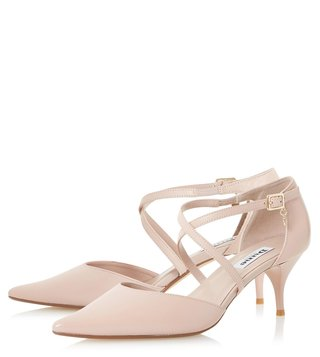 Dune London Blush Courtnee Sandals