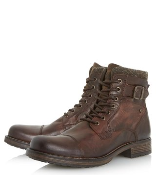Dune London Brown Churchill Derby Boots
