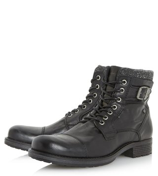 Dune London Black Churchill Derby Boots