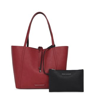 Armani Exchange Royal Red & Navy Medium Reversible Tote Bag