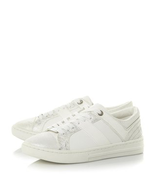 Dune London White Eboni Sneakers