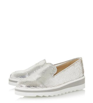 Dune London Silver Graded Sneakers