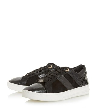 Dune London Black Eboni Sneakers