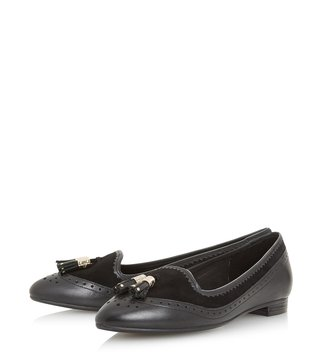 Dune London Black Gambie Loafers