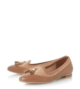 Dune London Tan Gambie Loafers