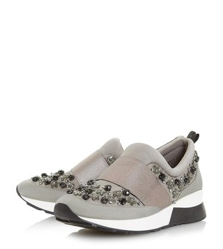 Dune London Grey Elisha Sneakers