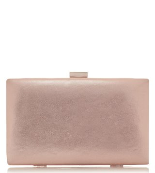 Dune London Rose Gold Brocco Clutch