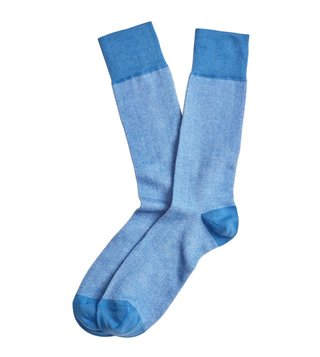 Brooks Brothers Red Fleece Pastel Blue Oxford Crew Socks
