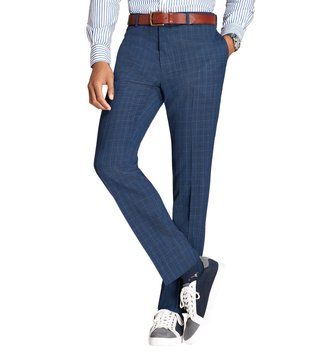 Brooks Brothers Red Fleece Blue Checks Trousers