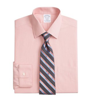 Brooks Brothers Orange Regent Fit Non-Iron Broadcloth Shirt