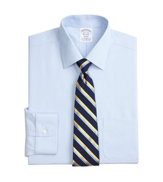 Brooks Brothers Blue Regent Fit Non-Iron Broadcloth Shirt