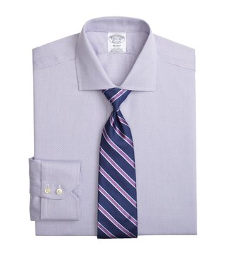 Brooks Brothers Purple Regent Fit Non-Iron Shirt