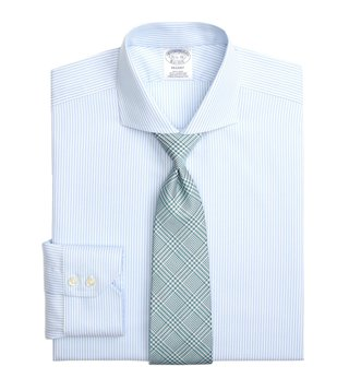 Brooks Brothers Aqua Regent Fit Non-Iron Shirt