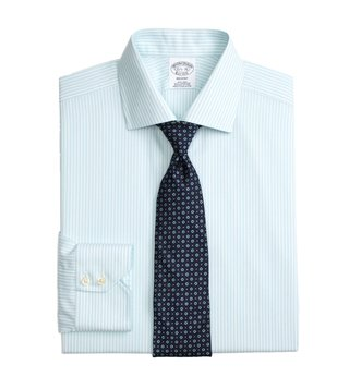 Brooks Brothers Turquoise Regent Fit Non-Iron Shirt